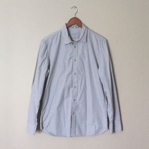 Calvin Klein Slim Fit Grey Button Down Shirt Med